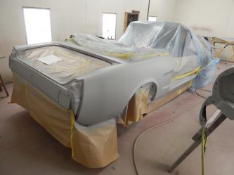 In primer ready for paint.