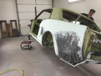 Ohio coupe getting ready for primer after all repairs are made.