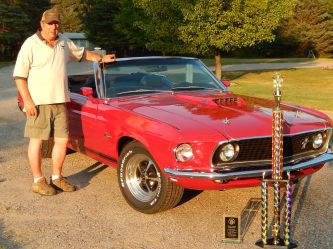 Completed GT convertible wins best of show at the Mid Michigan all Mustang and Ford show.