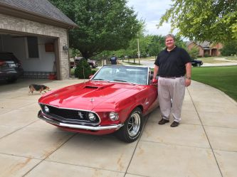 Happy client in Indiana takes delivery of his completely restored GT convertible.