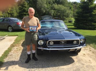 Trophy winning Blue 1968 mustang GT fastback, Grand Rapids