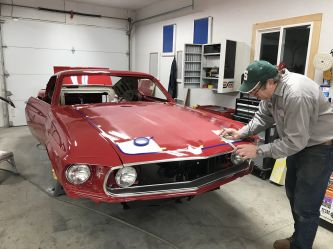 We have original cars to take measurements like the 69 blackout hood.