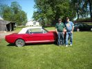 Paul and owner Don Mcredie. After Don took delivery he won a trophy for best Ford at the Traverse City car show.